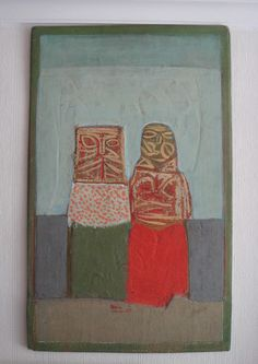 Vladimir Strelnikov - Pair, 1977, oil on wood