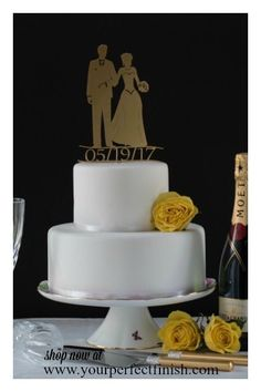Personalize your cake topper by adding your wedding date. See our full range now. yourperfectfinish.com/password