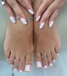 Toe Nails White, Fall Nail Art, Beauty Make Up, Photo And Video, Instagram Posts, Barefoot, Sexy, Finger Nails