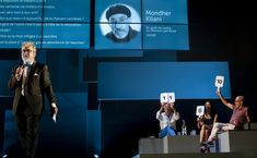 Concorso europeo della canzone filosofica di Massimo Furlan. produzione Numero23Prod. - Théâtre Vidy-Lausanne in collaborazione con i dipartimenti di musica jazz e pop di HEMU – Università di Musica di Losanna. Massimo Furlan propone una riflessione in chiave squisitamente popolare delle questioni cruciali del nostro oggi. sabato 22 febbraio 2020 - Teatro Bonci (Cesena); domenica 23 febbraio 2020 - Teatro Bonci (Cesena).   ph. Laure Ceillier - Pierre Nydegger