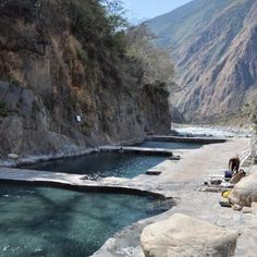 On the way to Machu Picchu the Santa Teresa hot springs  deep in the Andes of Peru  oh yes please + thank you!