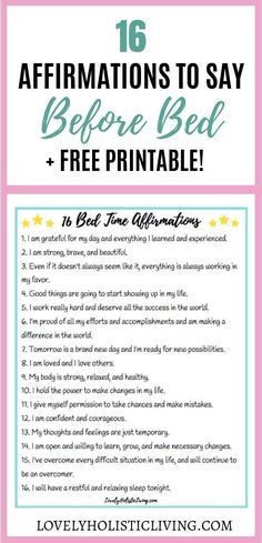 Night time affirmations for before bed! Love these positivity affirmations to re. Night time affirmations for before bed! Love these positivity affirmations to repeat at night. Affirmations Louise Hay, Positive Affirmations For Kids, Christian Affirmations, Positive Affirmations Quotes, Self Love Affirmations, Morning Affirmations, Law Of Attraction Affirmations, Affirmation Quotes, Healing Affirmations