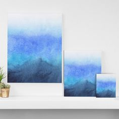 Found it at Wayfair - 'Fade' by Rebecca Allen Graphic Art on Wrapped Canvas