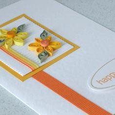 quilled card.  Super cute idea!