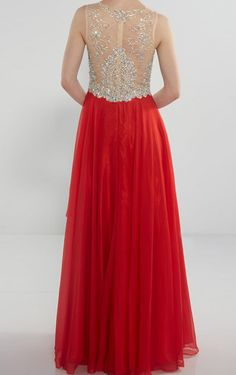 Prom Dresses Long,Red Chiffon Prom Gowns,A-line Evening Dresses,Scoop Neck Prom Dresses,Party Dresses Sleeveless ,Prom Dresses with Beads Sequined,Handmade Prom Gowns