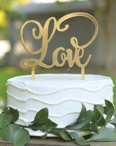 Gold Love Cake Topper 75% off