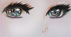 Galaxy eyes, I love how the colors combined each other qualities. It's a rare insight to see.