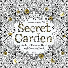Adults Coloring Books Secret Garden Hunt Beautiful Patterns Arts Relexation NEW