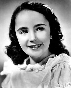 Actress Elizabeth Taylor in a childhood publicity image.
