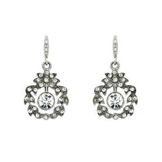 Downton Abbey Silver Crystal Swag Drop Earrings