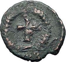 THEODOSIUS II 425AD Christian CROSS Genuine Authentic Ancient Roman Coin i65046