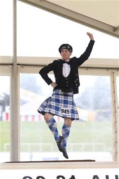 Male dancer in kilt #lennox #royal #blue #tartan