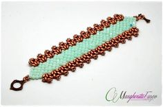 Bead tutorial How to make Glam bracelet with by 75marghe75 on Etsy