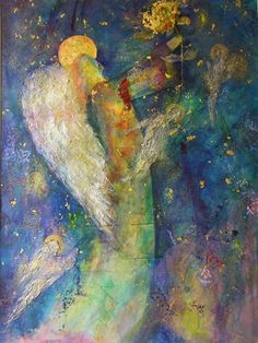 Angel with the Yellow Rose by Shirley Blevins