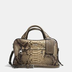 Coach  BLEECKER SMALL TOASTER SATCHEL IN PYTHON EMBOSSED LEATHER