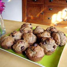 Chocolate Chip Banana Muffins #wonderful