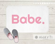 Funny Bath Mat | AHAVTI Lifestyle Coral Bathroom Decor, Babe, X21, Decoration, Spice Things Up, Memory Foam, Bath Mat, Sunglasses Case, South Carolina