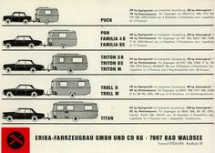 Hymer Eriba German Trailers in a variety of sizes
