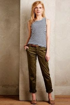 Stripes and Olive Green