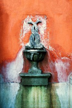 Wall Fountain San Miguel de Allende by Carl Campbell Mexican House, Mexican Style, Color Inspiration, Orange Color, Colours, Abstract, Painting, Mexico Weather, Blog