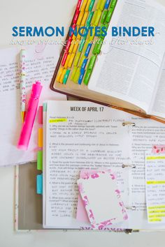 Sermon Notes Binder, How to Organize Your Notes After Church | Our Holly Days