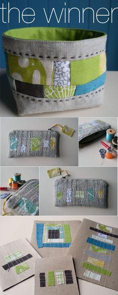 Made from fabric scraps via Rain and Shine.