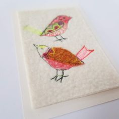 Free motion embroidery original artworks on hand made merino wool felt, by Tamzen Lundy Make Tutorial, Free Motion Embroidery, Textile Artists, Wool Felt, Merino Wool, Original Artwork, Artworks, Etsy Seller, Textiles
