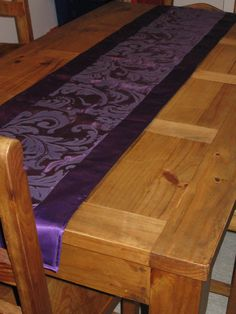 "Love this Purple Table Runner - 74"" L x 15.25"" W. $50.00, via Etsy. Perfect for Lent season decor!  I may get it!"