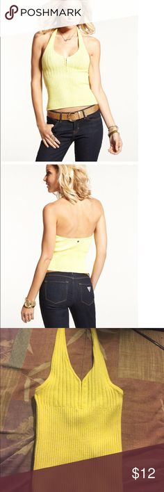 Guess ribbed halter top This sexy halter top is perfect with a pair of skinny jeans. I have two different colors of this top. Guess Tops