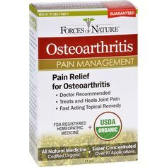 Forces Of Nature Organic Osteo Arthritis Pain Control - 11 Ml