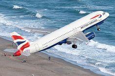 British Airways is take off from Gibraltar