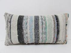 kilim lumbar pillow cream decorative pillow by DECOLICKILIMPILLOWS