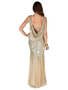 Buy Phase Eight Collection 8 Luna Sequin Dress, Gold | John Lewis
