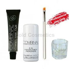Combinal Tint Kit: Black Cream Hair Dye, 5% Developer, Tinting Brush, Glass Mixing Dish from Austria by Combinal -- Awesome products selected by Anna Churchill