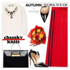 """""""Autumn Chunky Knits: Work Wear"""" by vittorio-1 ❤ liked on Polyvore featuring Gucci, Chanel, Balenciaga, Gianvito Rossi, autumn, polyvoreeditorial, polyvorestyle, chunkyknits and polyvoreset"""