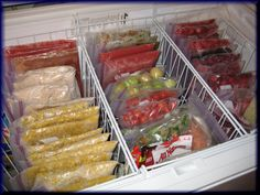 Tired of never knowing what's at the bottom of your deep freezer? Organizing a chest freezer is actually pretty simple, if you know the right tips and tricks! Check out these 9 clever (and inexpensive) ways to organize a chest freezer! Deep Freezer Organization, Freezer Storage, Refrigerator Organization, Kitchen Organization, Storage Organization, Makeup Organization, Organize Freezer, Organized Fridge, Refrigerator Freezer