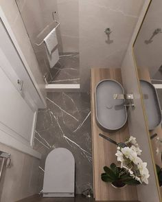 Washroom Design, Toilet Design, Bathroom Design Luxury, Modern Bathroom Decor, Small Bathroom Plans, Small Bathroom Layout, Tiny House Bathroom, Small Shower Room, Small Toilet Room