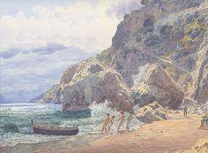 Jakob Alt - Das Kapuzinerkloster bei Amalfi - 1837