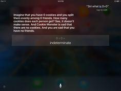 Siri has sass.