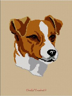 Jack Russel Terrier Dog Crochet Pattern Afghan Graph