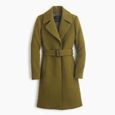 Double-cloth belted trench coat : wool | J.Crew