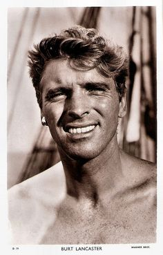 British postcard in the Picturegoer Series, no. D Photo: Warner Bros. Publicity still for <i>The Crimson Pirate</i> (Robert Siodmak, Old Hollywood Movies, Hollywood Icons, Hollywood Actor, Hollywood Stars, Classic Hollywood, Lancaster, Old Movie Stars, Classic Movie Stars, Classic Actresses