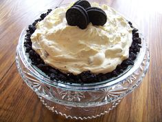 Oreo Pie Recipe – Money Saving Mom® - Piercings New Oreo Pie Recipes, Baking Recipes, Dessert Recipes, Just Desserts, Delicious Desserts, Yummy Food, Recipe Using Cool Whip, Crockpot, Stick Of Butter