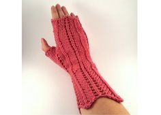 Lace Wrist Warmers For Women Hand Knit Candy by SophiesKnitStuff, €25.00