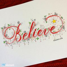 "295 Likes, 16 Comments - Helen Murdock-Prep (@helen.ink) on Instagram: ""You gotta...✨✨✨✨✨ I created this piece with a red Tombow Dual Brush marker for the lettering and a…"""