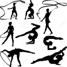 Gymnastics Cliparts, Stock Vector And Royalty Free Gymnastics Illustrations Ballerina Nursery, Acro Dance, Shadow Drawing, Ballerina Silhouette, Acrobatic Gymnastics, Ballet Art, Sailor Moon Crystal, Ink Painting, Illustrations