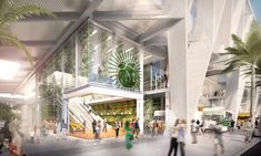 Recently, SOM revealed its design for the Miami hub of All Aboard Florida 's passenger rail line, The terminal will be one of three connects Florida East Coast, Florida Home, South Florida, Central Florida, Architecture Magazines, Architecture Student, Retail Architecture, Architecture Design, Transport Hub