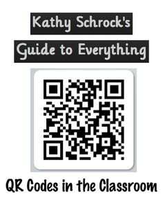 QR code resources galore from Kathy Schrock Instructional Technology, Educational Technology, Technology Tools, Educational Leadership, Technology Design, Technology Logo, Education Quotes For Teachers, Primary Education, Teacher Quotes