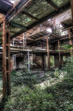 High quality images of abandoned things and places. Abandoned Buildings, Old Buildings, Abandoned Places, Abandoned Mansions, Bg Design, Abandoned Factory, Scenery Background, Haunted Places, Landscape Photography