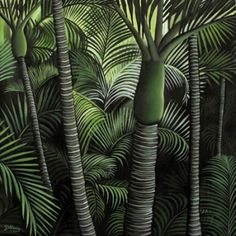 Check out the deal on Nikau Forest Canvas Print by Diana Adams at New Zealand Fine Prints Acrylic Painting Canvas, Canvas Art Prints, Paintings I Love, Original Paintings, New Zealand Art, Nz Art, Hawaiian Art, Maori Art, Wall Art For Sale